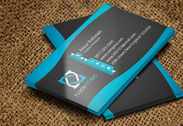 Tek Yon Parlak Kartvizit Business Stationery Business Cards Stationery