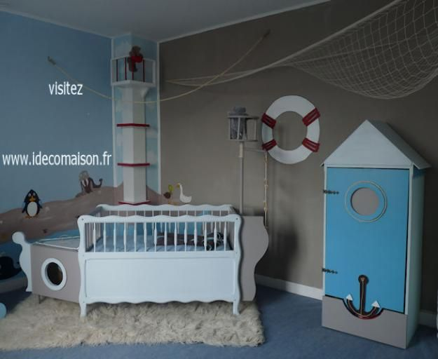 theme marin chambre b b enfant baby room baby boy. Black Bedroom Furniture Sets. Home Design Ideas