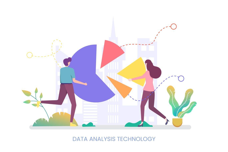 Data Analysis Technology Vector Illustration By Naulicrea On In