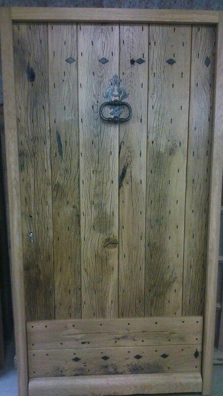 Porte du0027entrée type ferme vieux chêne    wwwportesantiques