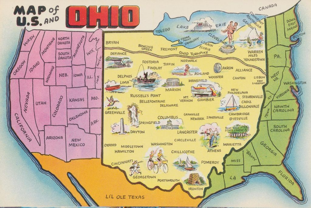 Map of US and Ohio Flickr