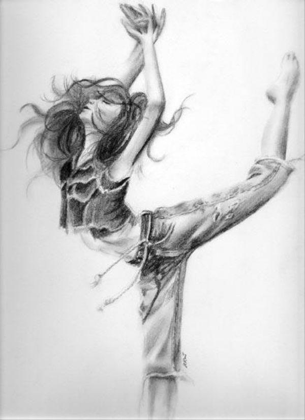Танцы рисунок карандашом