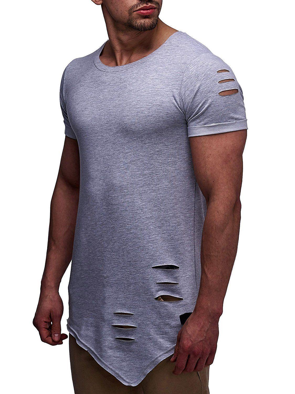 LEIF NELSON Herren T-Shirt Rundhals Kurzarmshirt Top Basic Shirt Crew Neck  Vintage Sweatshirt LN06261 abd2a7b72e