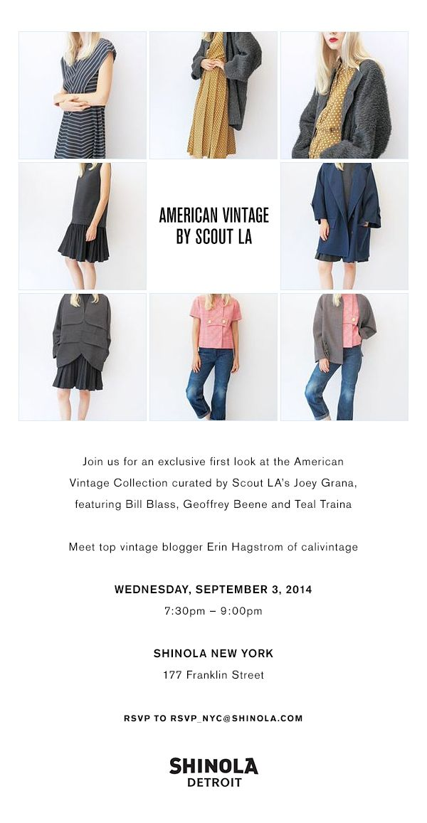 Meet Me At The Shinola X Scout American Vintage Preview In Nyc Calivintage American Vintage Vintage Blogger Vintage Tops