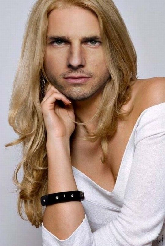 Guy With Long Blond Hair Celebrities Funny Funny Celebrity Pics