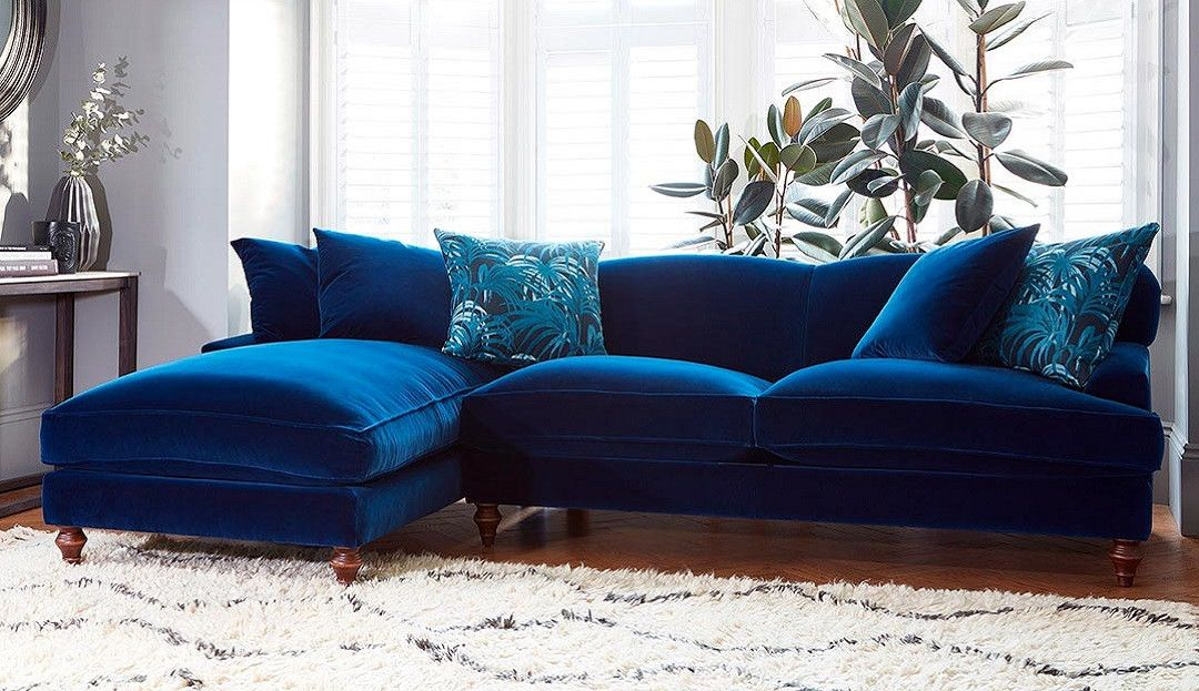 Galloway Chaise Sofa Left Or Right Couches Living Room Blue Living Room Blue Sofas Living Room