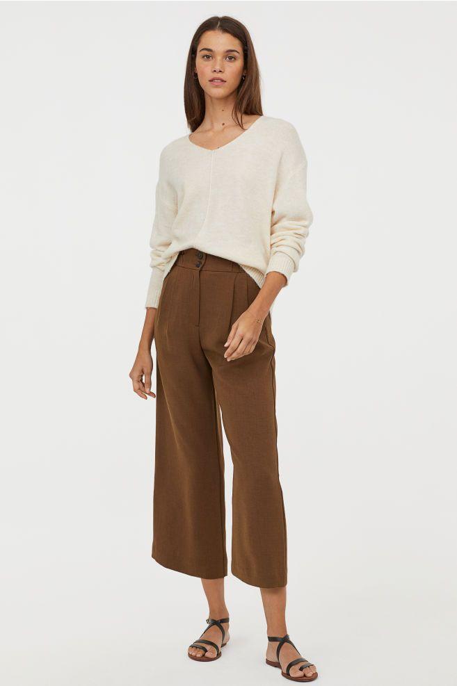 730f28df7a Wide-leg Pants in 2019 | To Wear | Wide leg pants, Brown pants ...