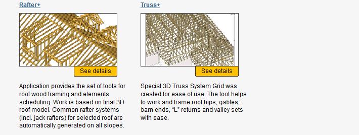 Tools4Revit - wood framing - rafter+ - truss+ - revit