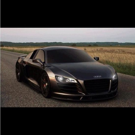 Matte Black Audi R8. Favorite car | http://sport-cars-568.blogspot.com