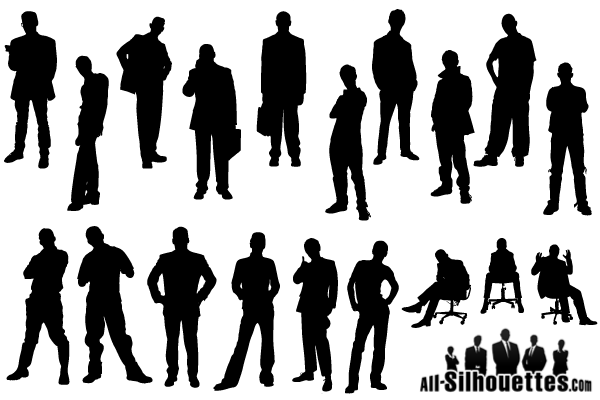 Man Silhouette Free Vector Pack Silhouette Free Silhouette Man Silhouette
