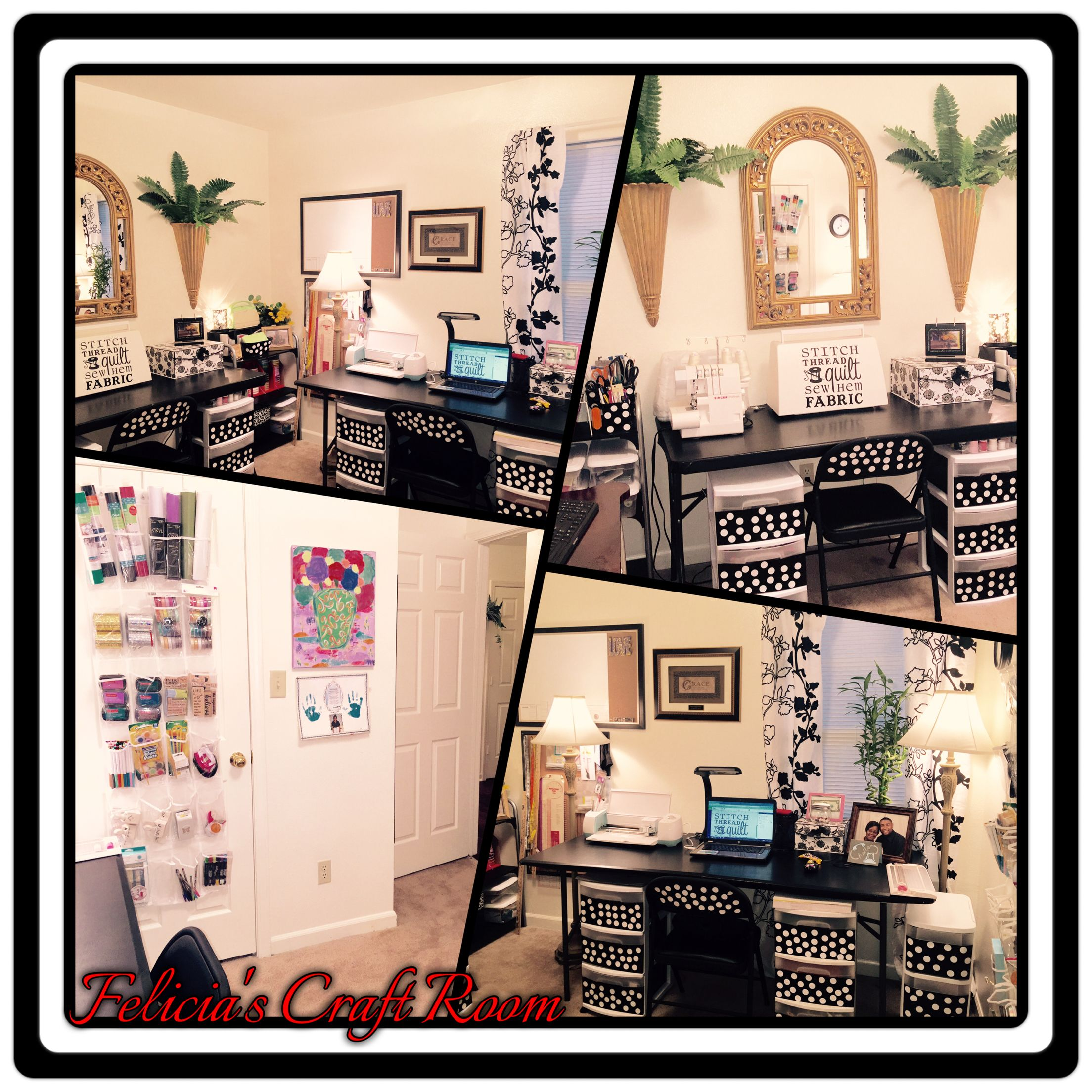 DIY Black and White Craft Room