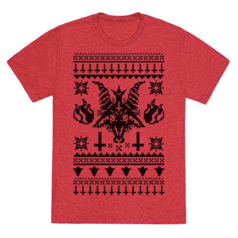 baphomet ugly christmas sweater if you want a few more satanic rituals to help get you into the christmas spirit look no further than this tasty inverted