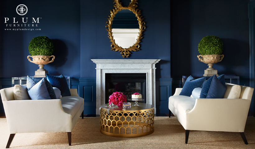 Navy Blue Heaven Plum Furniture Blue And Gold Living Room Blue Living Room Gold Living Room #navy #blue #and #gold #living #room #ideas
