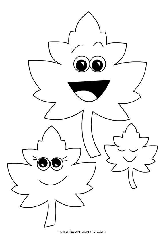 Pendente con foglie da attaccare sulle finestre o sulle for Addobbi autunno per aula scuola