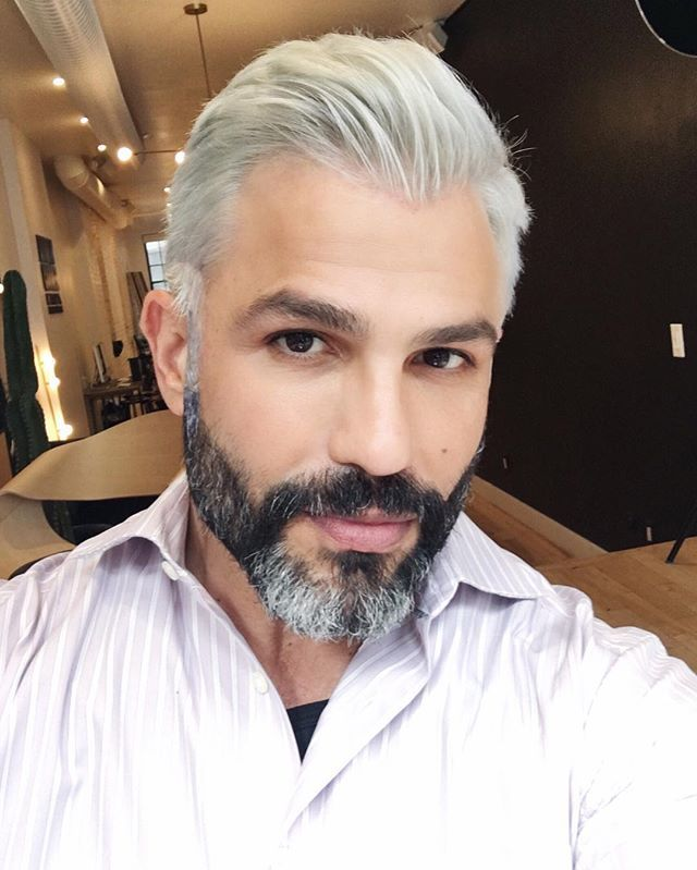 Took Josephcilona From Dark Brown To Silver Hair This Afternoon