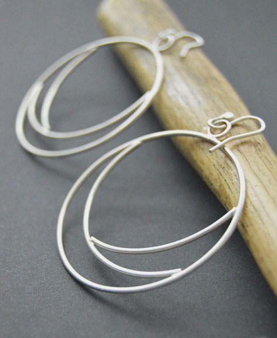 Silver hoops 879b593e5bb4a