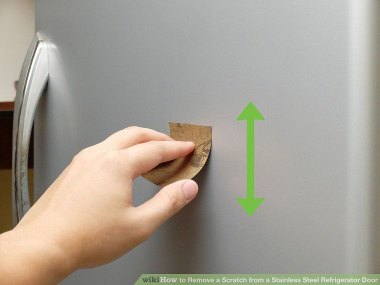 Image Titled Remove A Scratch From A Stainless Steel Refrigerator Door Step  7