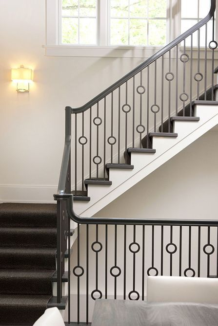 Lovely metal railing with circle details  | Stairways in