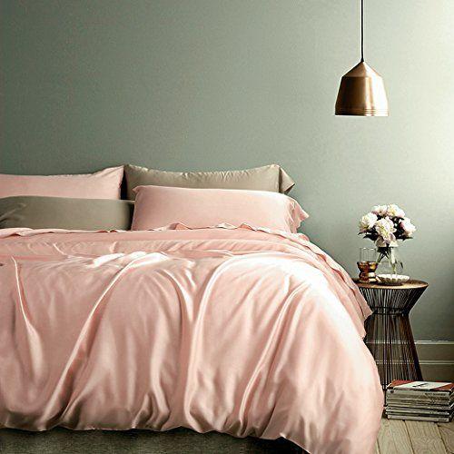 Rose Gold Duvet Cover Luxury Bedding Set High Thread Coun https:\/\/www.amazon.com\/dp