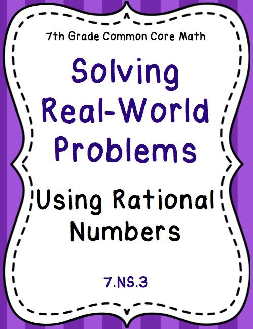 Rational Number Real World Word Problems Stations Activity 7 Ns 3 Rational Numbers Word Problems Math Integers