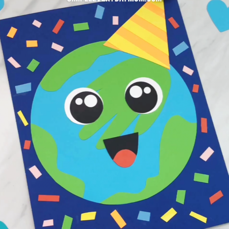 Earth Day Craft For Kids   Make this fun and festive handprint Earth craft at…