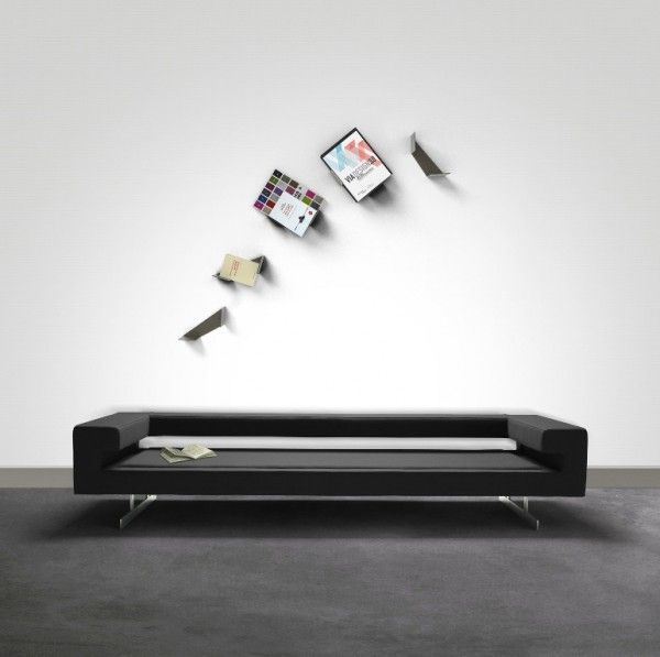 Virgules shelves by thibault pougeoise find this pin and more on 20 creative bookshelves modern and modular