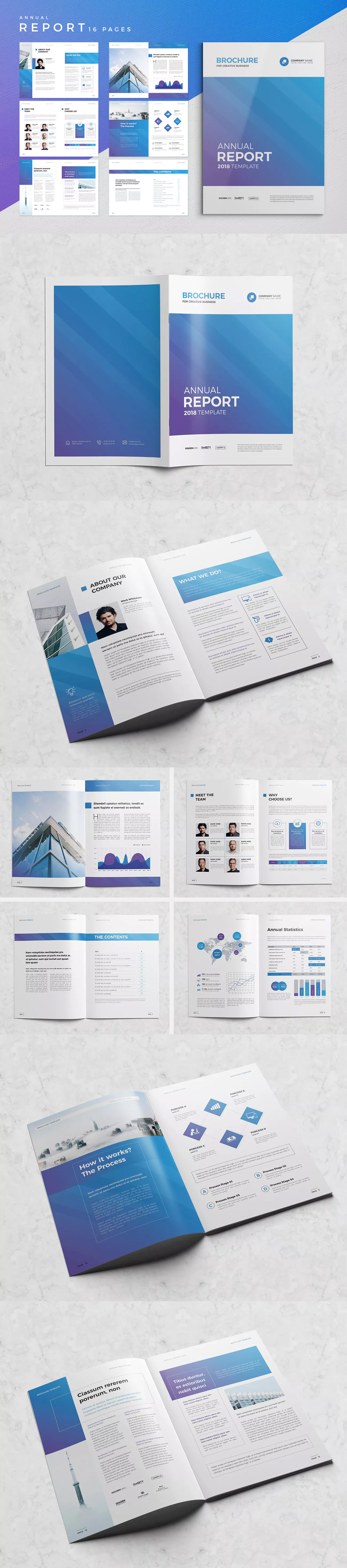 Clean Annual Report Template InDesign INDD A4   Annual Report ...