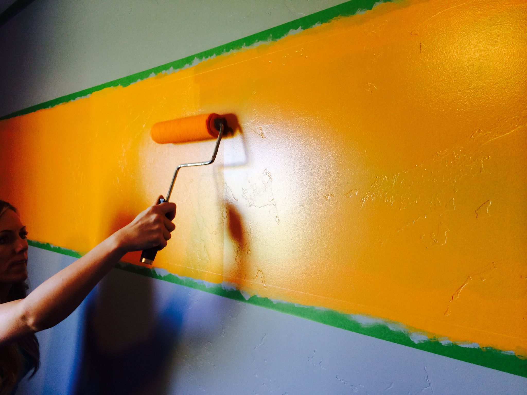 painting wall stripe | Boys Room | Pinterest | Painting wall stripes ...