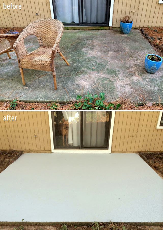 How To Make Your Patio Look New Again For Less Than 100 Paint Concrete Patio Cleaning Concrete Patios Painted Patio