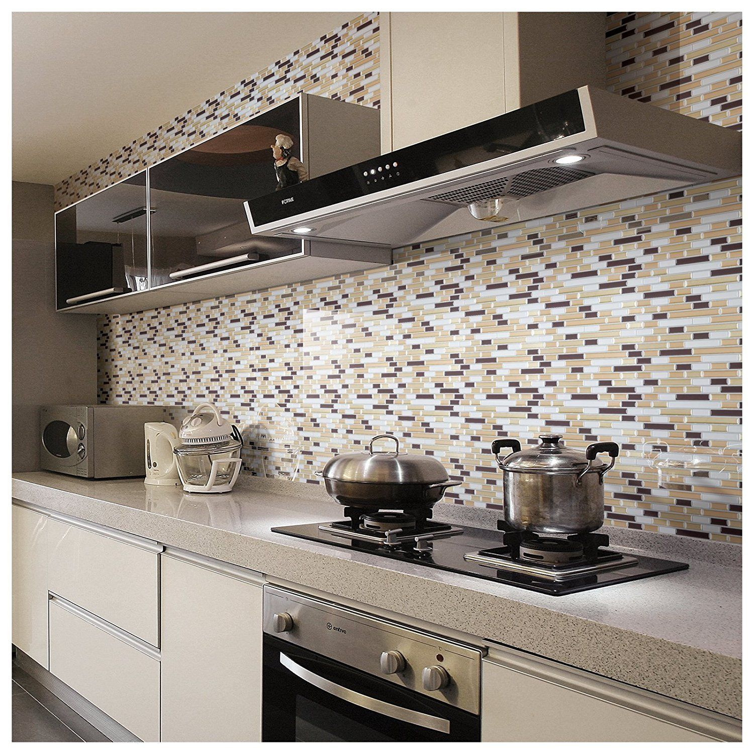 Awesome Peel And Stick Wall Tile Kitchen And Bathroom Backsplashes 10 Pcs