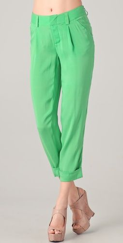 green pants. yup.