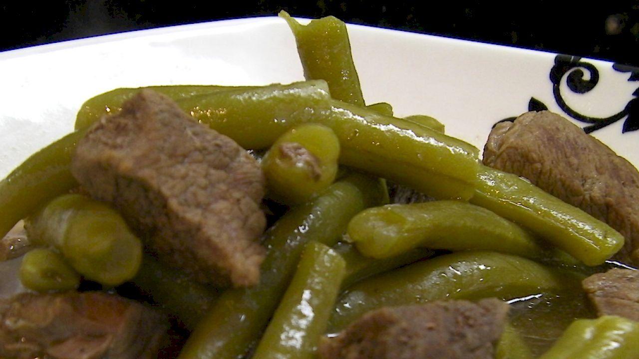 طريقة طبخ الفاصوليا الخضراء How To Cook Greens Cooking Cooking Green Beans