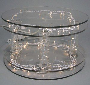 wedding cake toppers and lighted cake plates or cake stands for rent | TwinkleLite Acrylic Double & wedding cake toppers and lighted cake plates or cake stands for rent ...