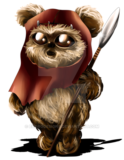 how to draw an ewok cartoon