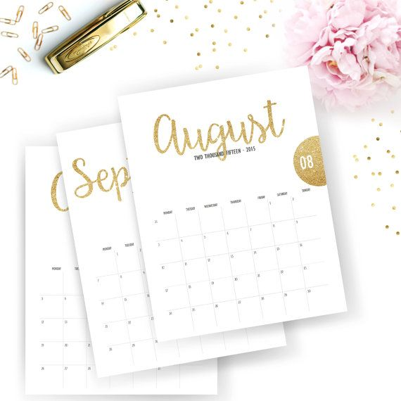 Printable 2015 Monthly Calendar Printable By Sunshineparties On