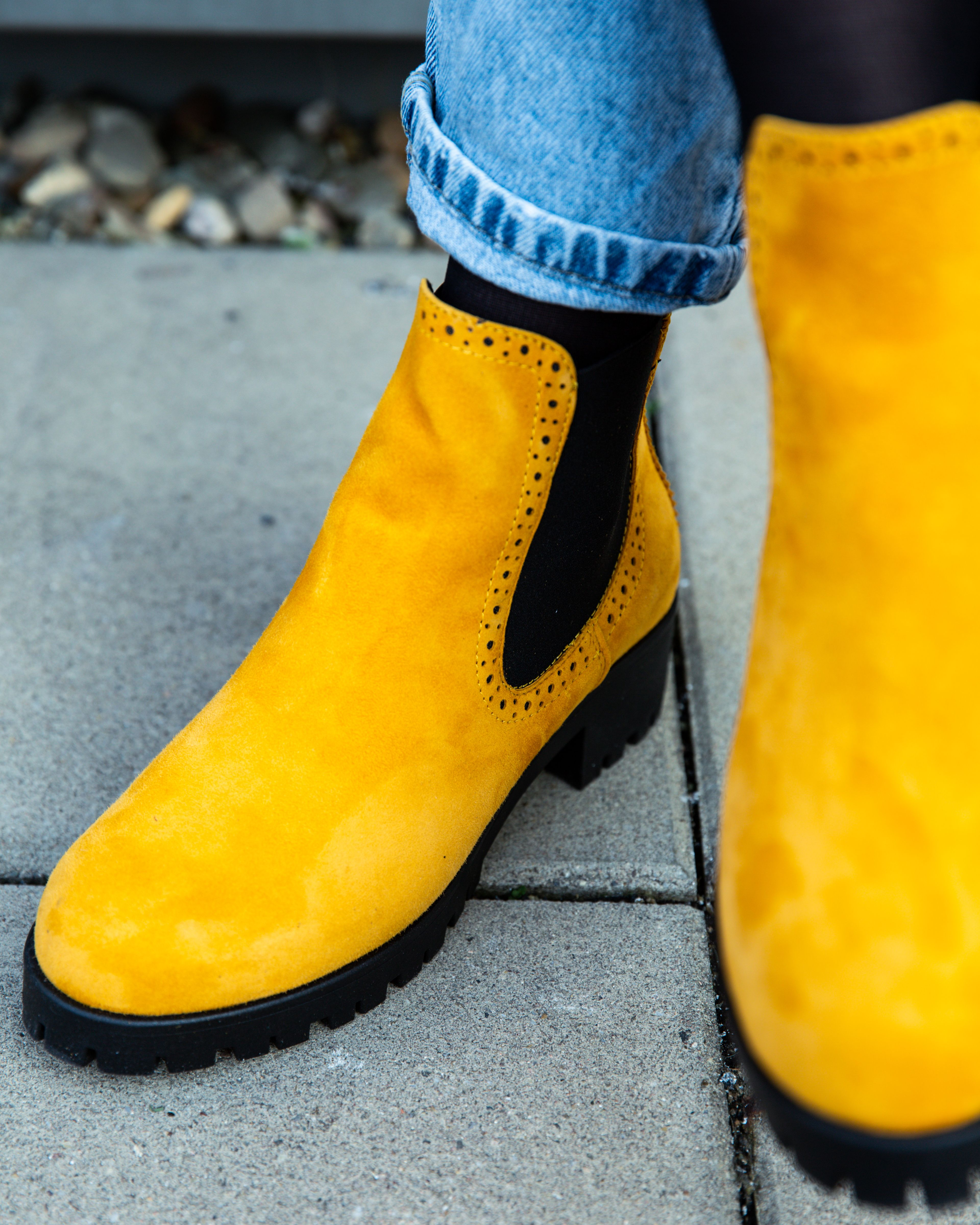 Tamaris Stiefeletten gelb | Winterschuhe damen, Winterschuhe