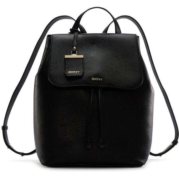 5c9e4eb20a DKNY Fine Pebble Leather Backpack ( 398) ❤ liked on Polyvore featuring bags