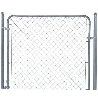 Yardgard 6 Ft W X 6 Ft H Galvanized Metal Adjustable Single Walk Fence Gate 3283ad72 The Home Depot Chain Link Fence Gate Chain Link Fence Fence Gate