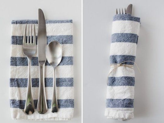 The Easiest Way to Make Cloth Napkins: Start With IKEA Dish Towels #clothnapkins