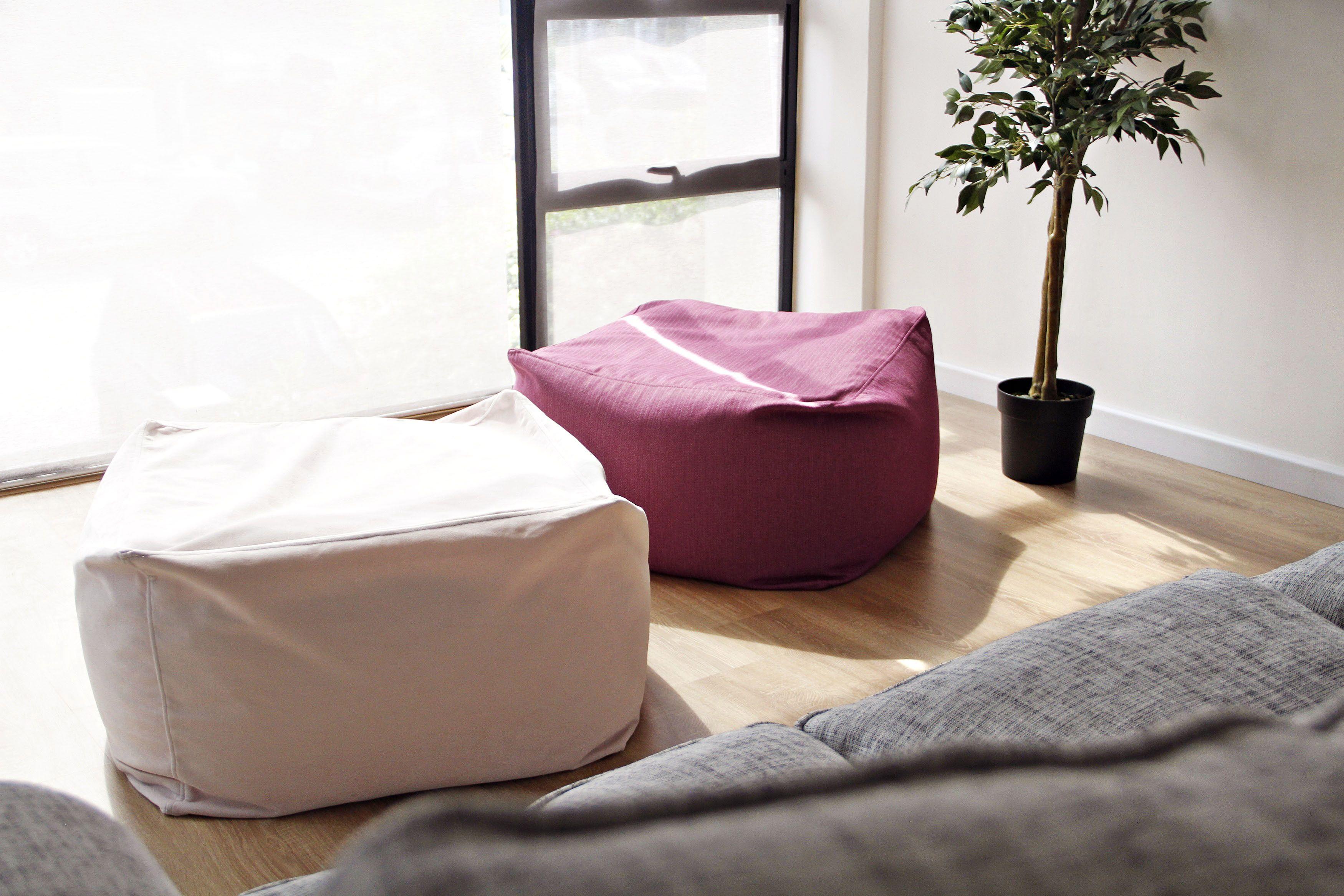Magnificent Muji Beads Sofa Beanbag Slipcovers In Herringbone Magenta Onthecornerstone Fun Painted Chair Ideas Images Onthecornerstoneorg