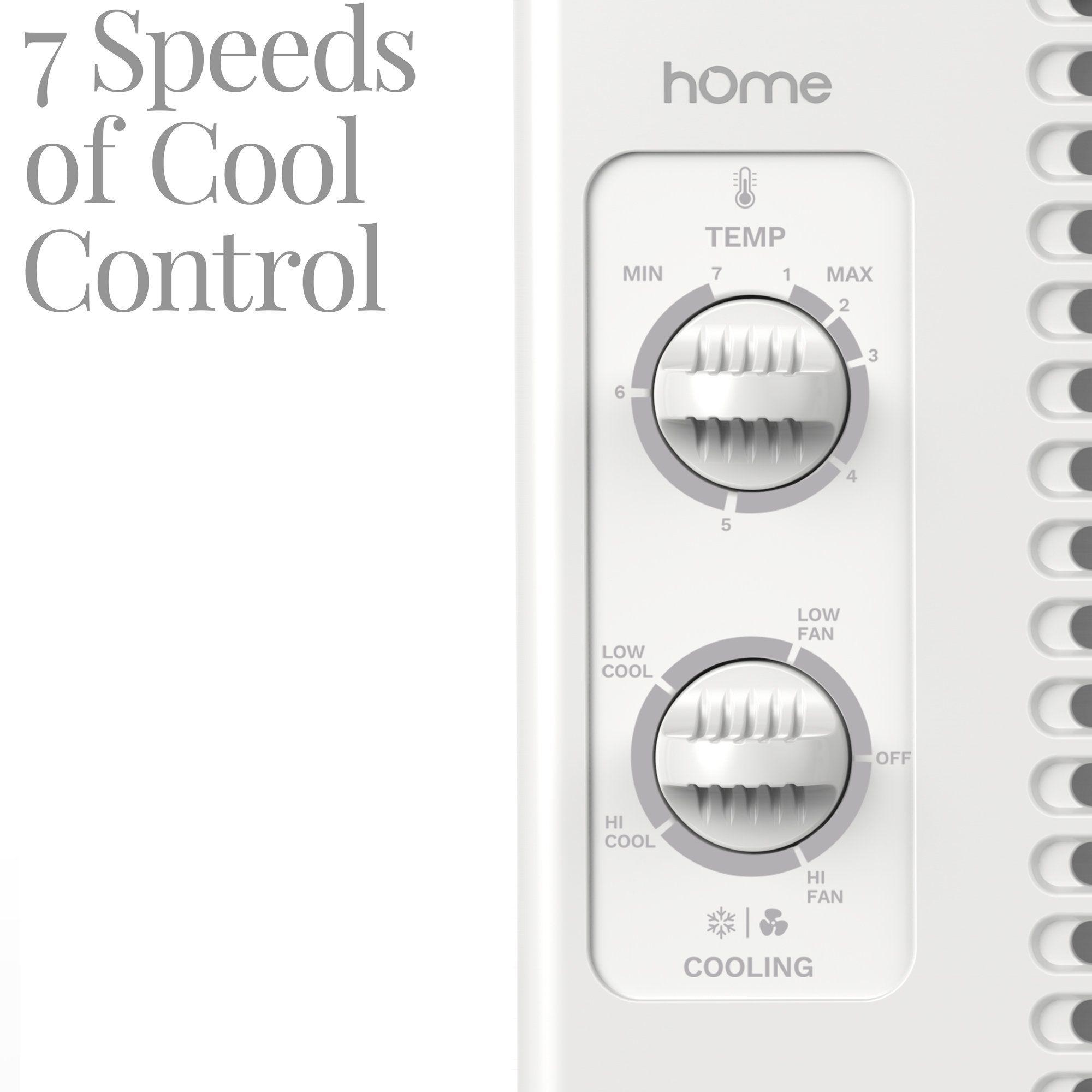 hOmeLabs Window Air Conditioner 5000 BTU AC Unit with 7