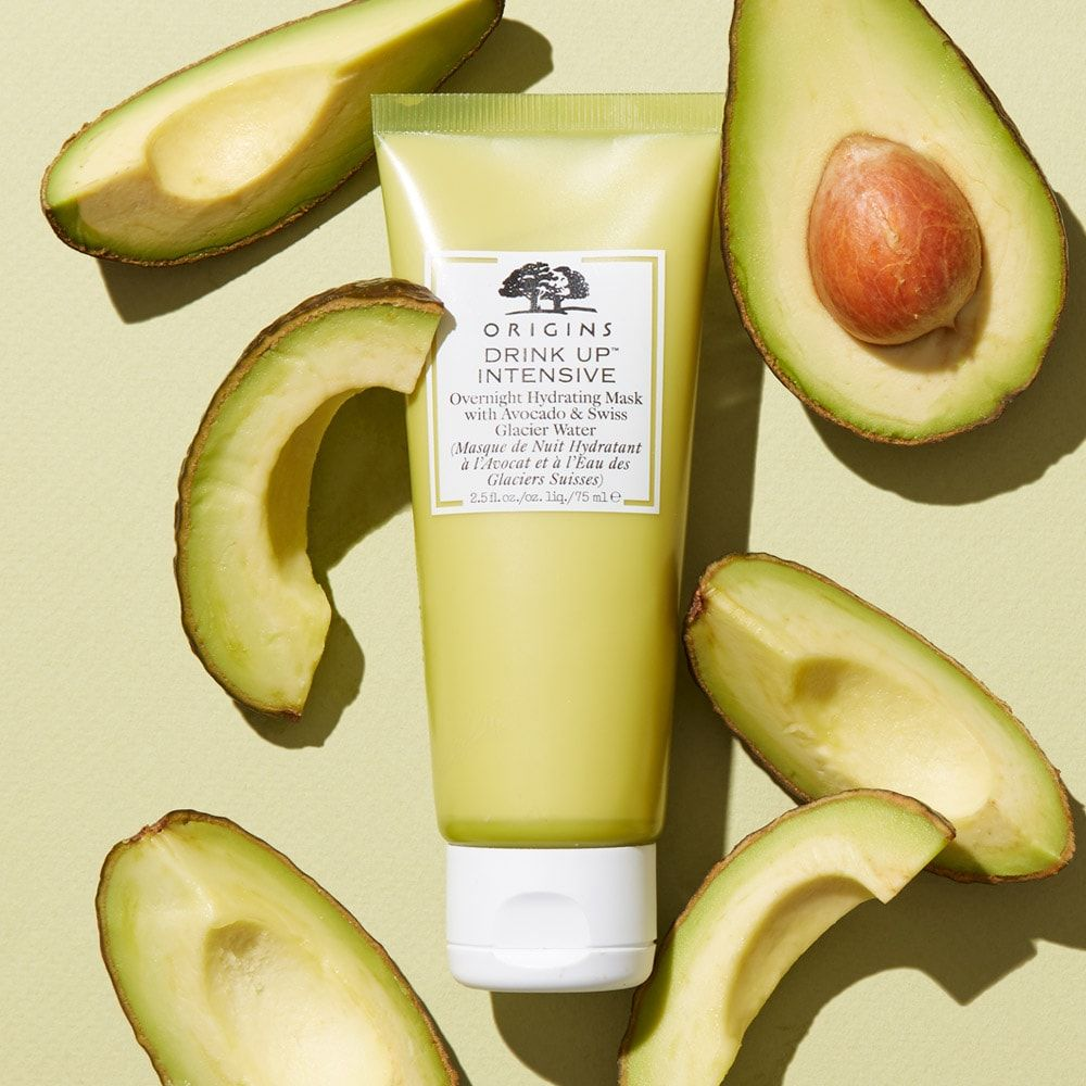 Drink Up Intensive Overnight Hydrating Mask With Avocado Glacier Water Origins In 2020 Origins Drink Up Natural Skin Care Hydrating Mask