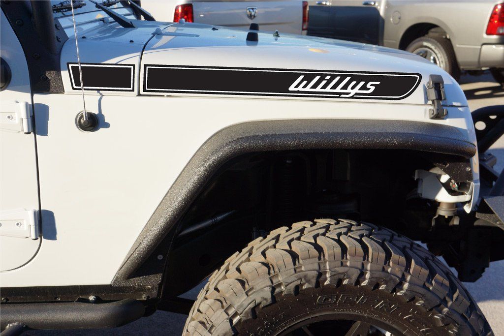 Jeep Willys Retro Hood Decals For Wrangler Jk Jeep Sahara Jeep