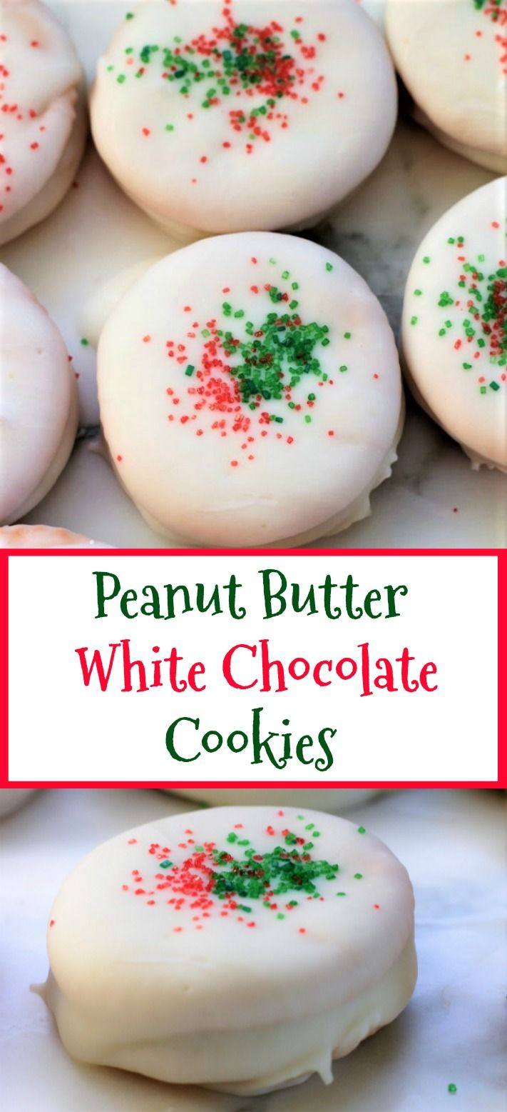 Peanut Butter White Chocolate Cookies #quickcookies