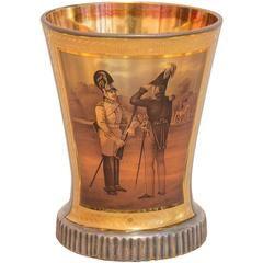 Biedermeier Glass Goblet, Circle of Anton Kothgasser, Vienna, circa 1840