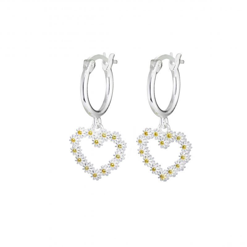 11mm Iota Heart Drop Earrings