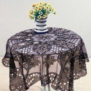 Black Lace Tablecloth