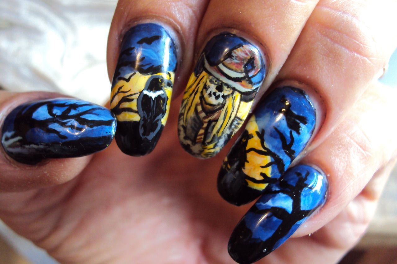 Scary Scarecrow halloween | Chrissy's Nail Art #nail # ...