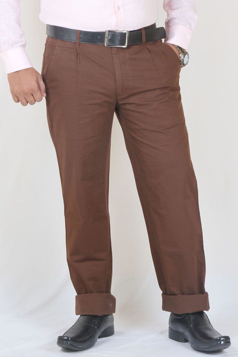 16ea22580c1 Buy Coffee Color Casual Wear Cotton Chinos For Men Online in India Trousers