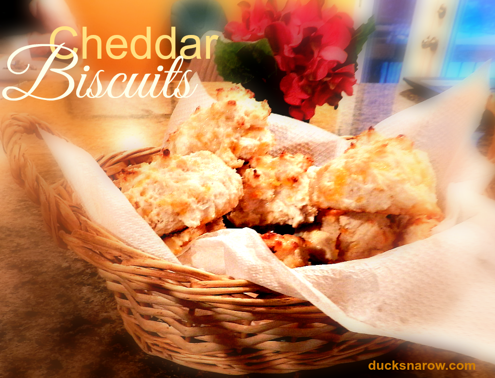 DUCKS N A ROW: Cheddar biscuits #biscuits #Bisquick